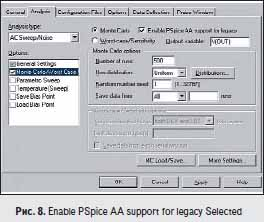 Enable PSpice AA support for legacy Selected