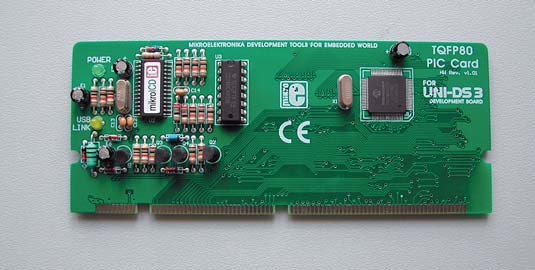 Рис. 2. Плата специализации UNI-DS3 40 PIN PIC CARD