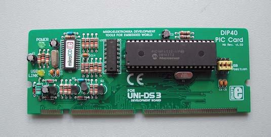 Рис. 3. Плата специализации UNI-DS3 80 PIN PIC CARD