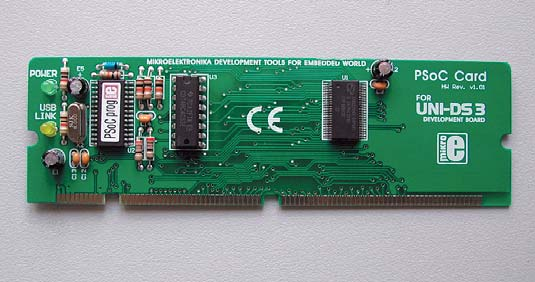 Рис. 5. Плата специализации UNI-DS3 48 PIN PSoC CARD