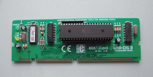 Рис. 6. Плата специализации UNI-DS3 40 PIN 8051 CARD