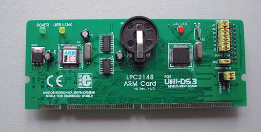 Рис. 7. Плата специализации UNI-DS3 64 PIN ARM CARD