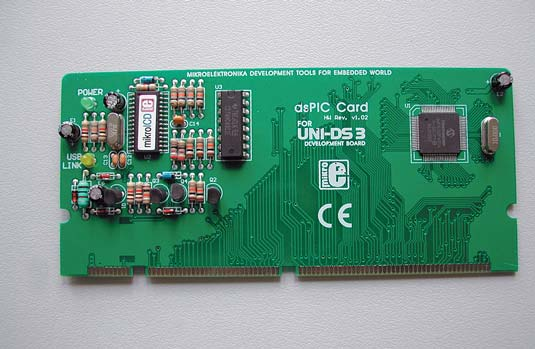 Рис. 8. Плата специализации UNI-DS3 80 PIN dsPIC CARD