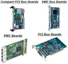 Compact PCI Bus Boards, VME Bus Boards, PMC Boards, PCI Bus Boards