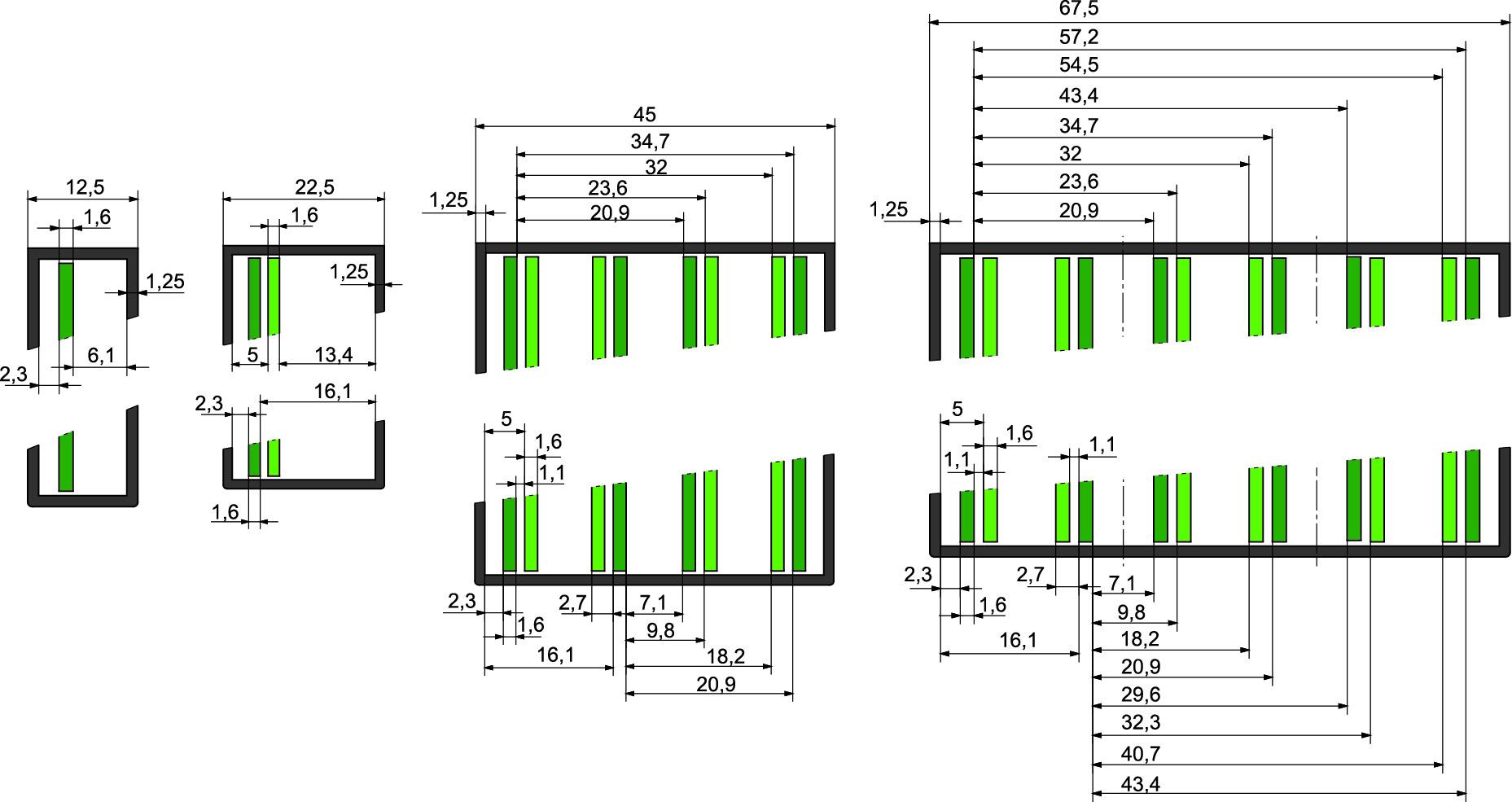 Варианты размещения печатных плат в корпусах CH20M