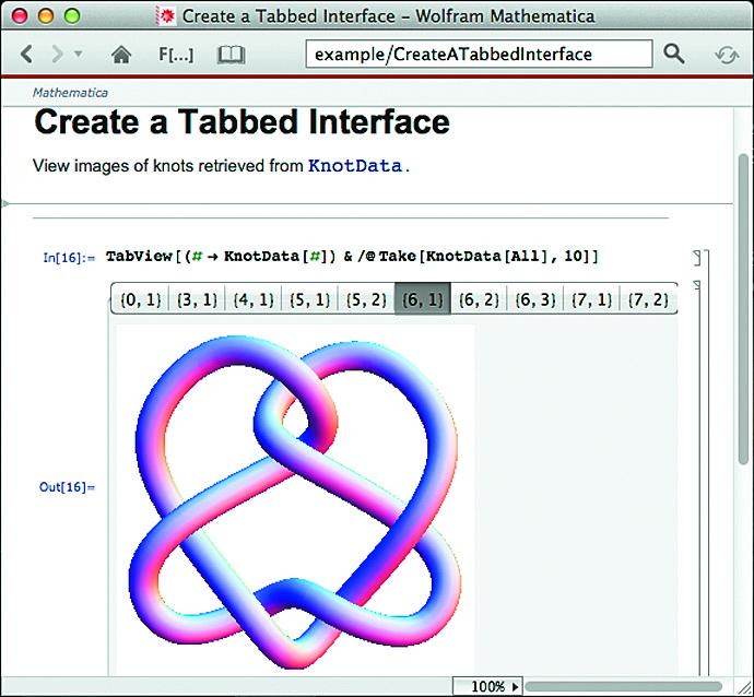 Построение трехмерной фигуры Knot с разными параметрами