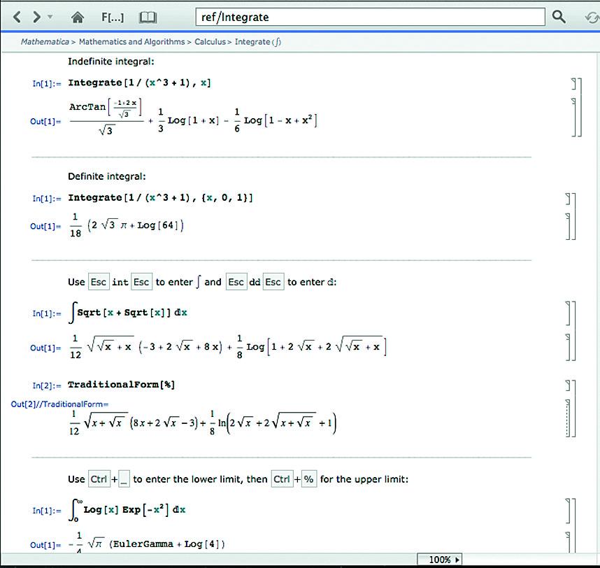 Примеры вычисления интегралов