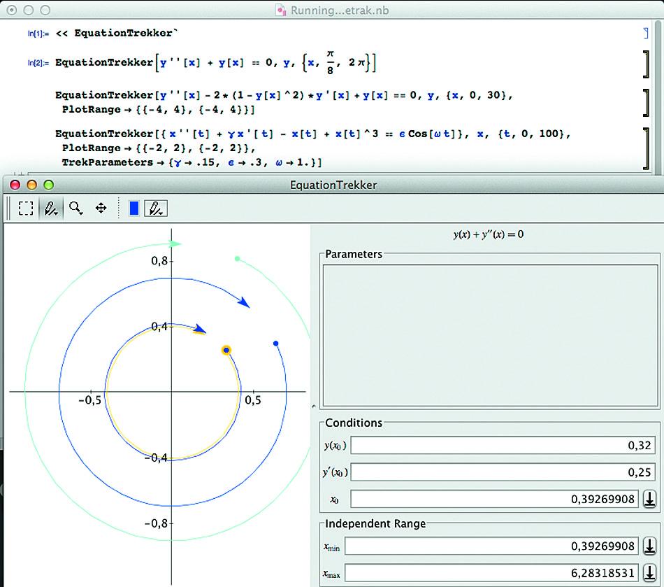 Построение решения дифференциального уравнения с выбором начальной и конечной точки решения мышью
