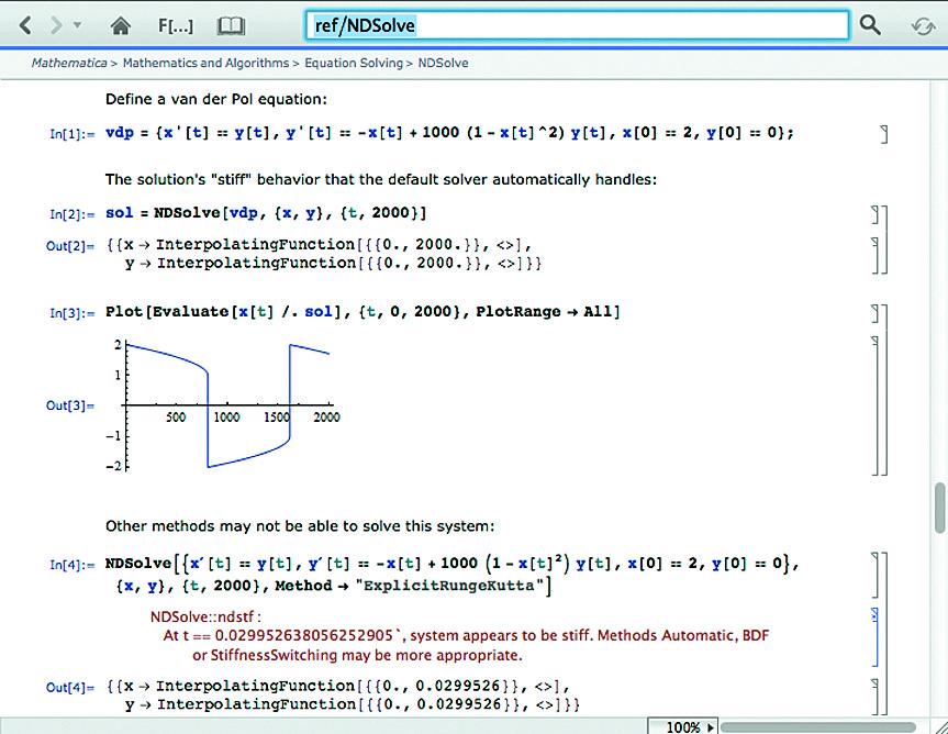 Решение системы жестких дифференциальных уравнений Ван-дер-Поля с построением фазового портрета
