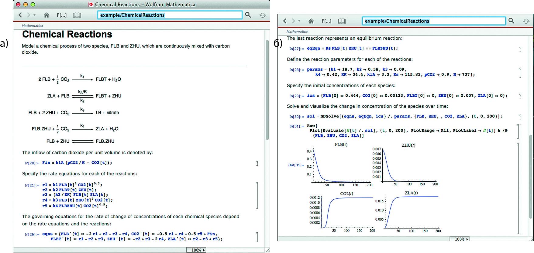 Система дифференциальных уравнений химического реактора