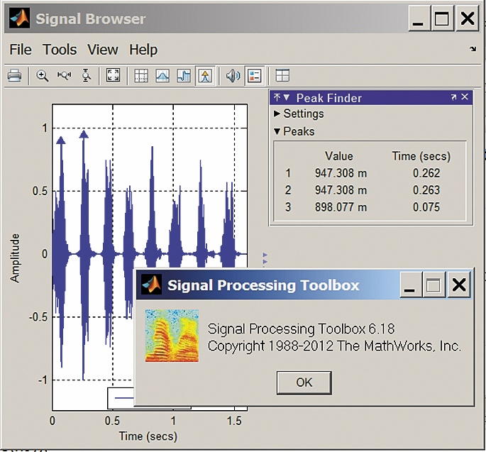 Просмотр параметров сигнала chirp