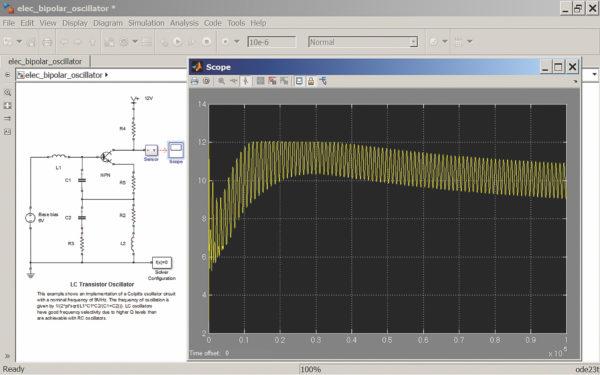 Моделирование LC-генератора