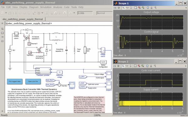 Моделирование полумостового инвертора на мощных полевых транзисторах