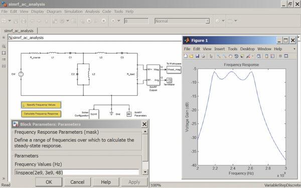 Моделирование линейной цепи на дискретных компонентах