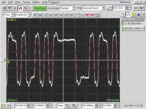 Сигнал от последовательной шины при передаче данных