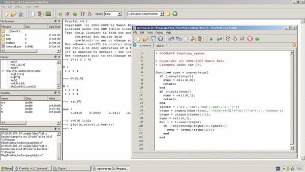 Окно редактора с листингом функции