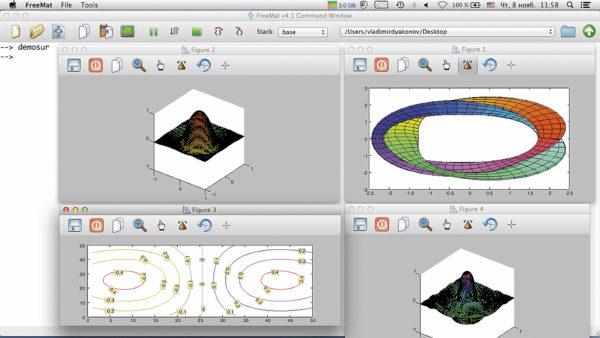 Примеры построения 3D-графиков поверхностей и объемных фигур