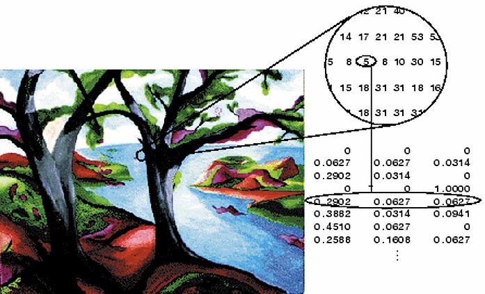 Структура цветного: а) индексированного изображения; б) RGB-изображения