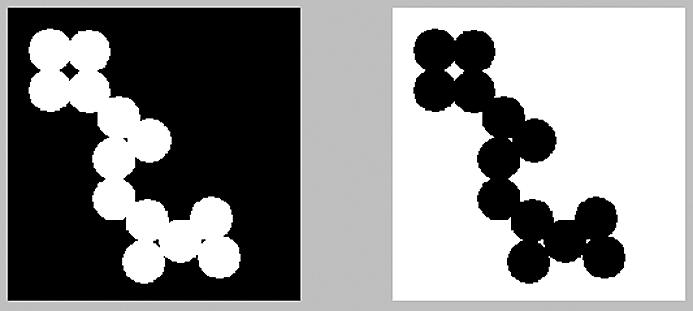 Смена цвета — белого на черный и черного на белый