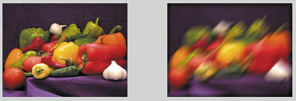 Расфокусировка изображения — действие фильтра filteredRGB