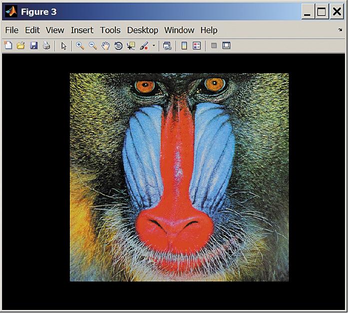 Цветное изображение, помещенное на черный фон