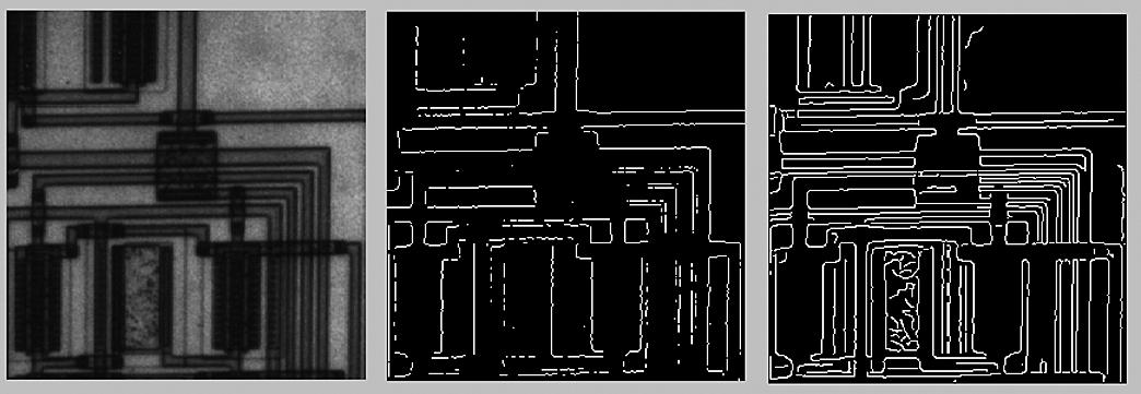 Оригинал изображения печатной платы и действие функции edge при методе Превита и Канни