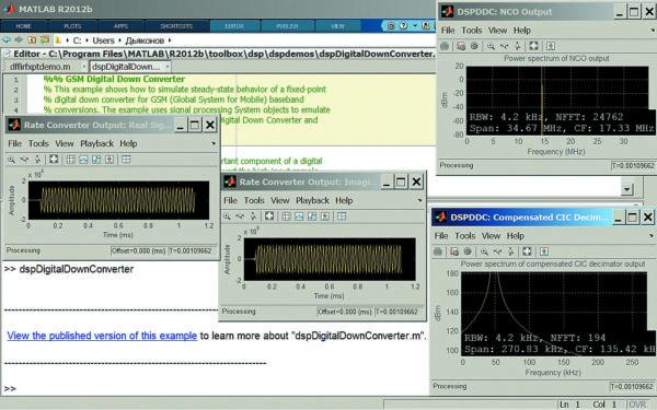 Пример анализа GSM понижающего конвертера