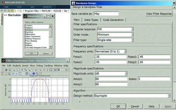 Инструменты конструирования заданного типа фильтра