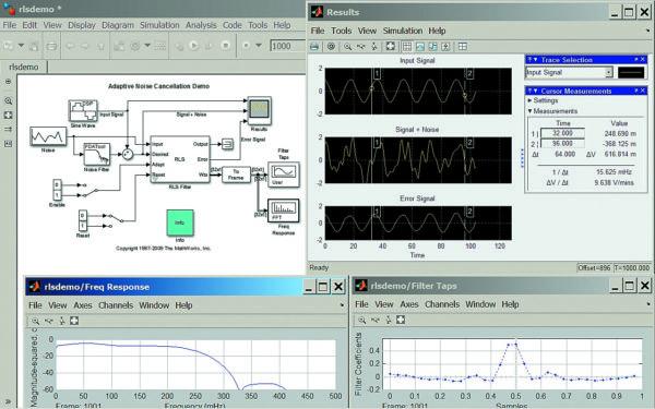 Диаграмма модели адаптивной очистки от шума
