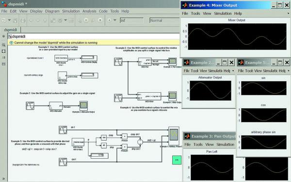 Диаграмма контроля MIDI-сигналов