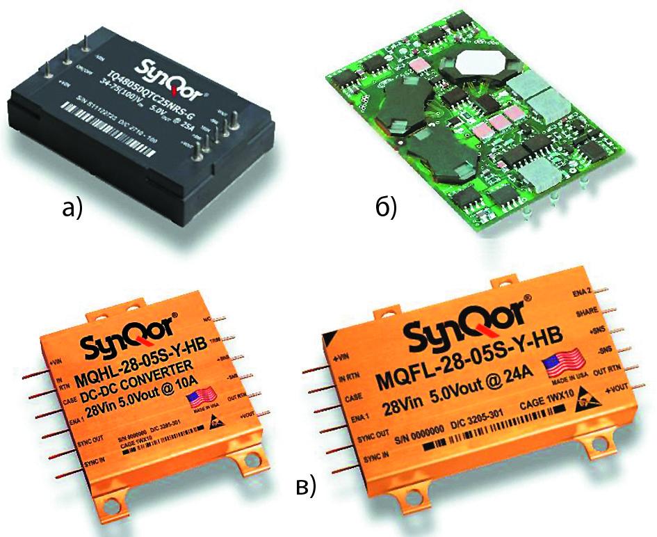 Модули электропитания SynQor, изготовленные по SMT-технологии