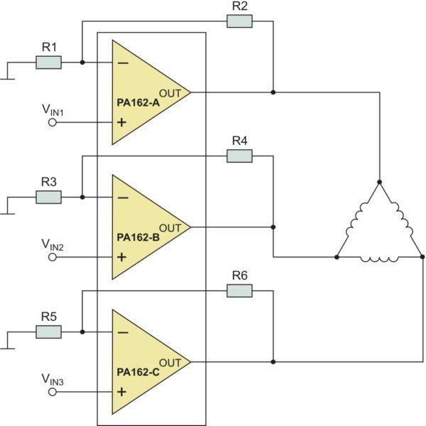 Упрощенная схема применения усилителя PA162