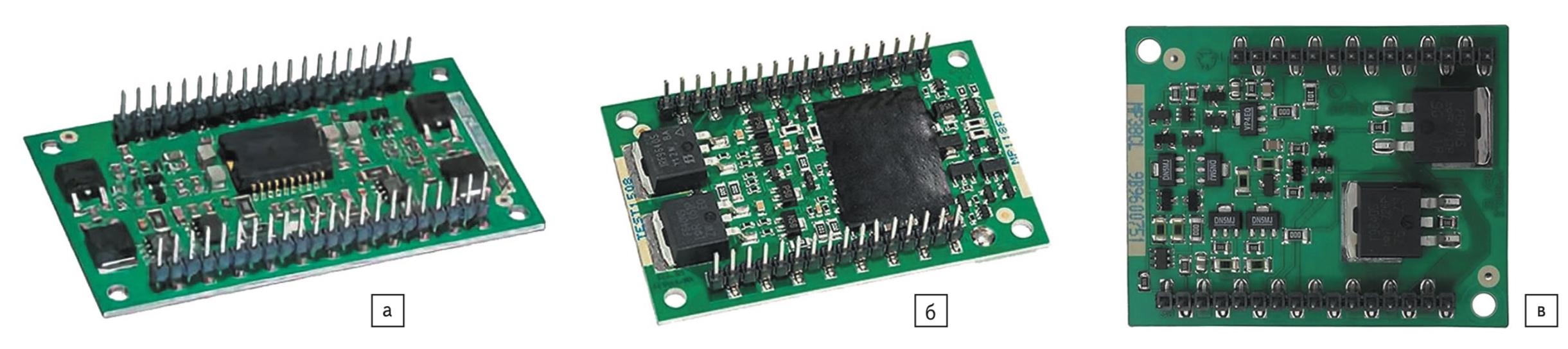 Внешний вид бескорпусных усилителей Apex Microtechnology: а) DIP FC; б) DIP FD; в) DIP CL