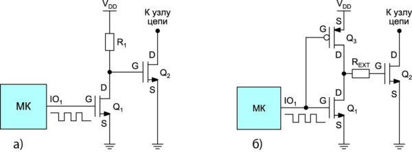 Силовой МОП-транзистор, управляемый инвертированной логикой