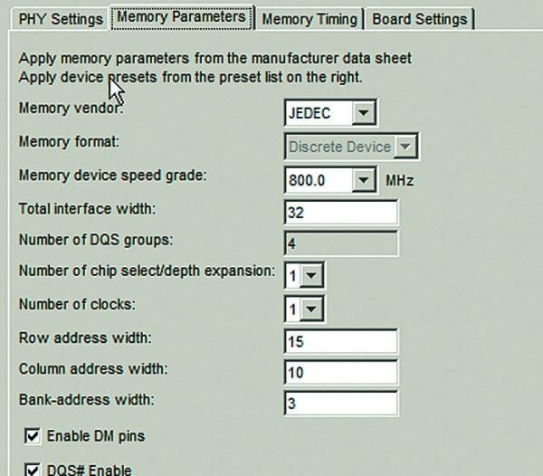Установка параметровDDR3 назакладке Memory Parameters