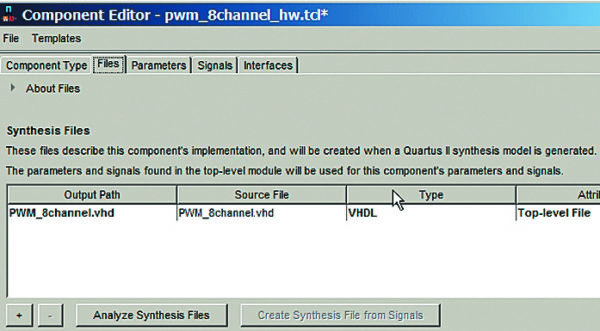 Создание нового периферийного компонента наоснове файлаHDL