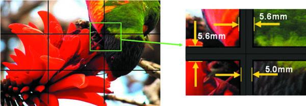Благодаря минимальной ширине межпанельных швов видеостена наоснове дисплейных панелейAUO отличается высоким качеством изображения