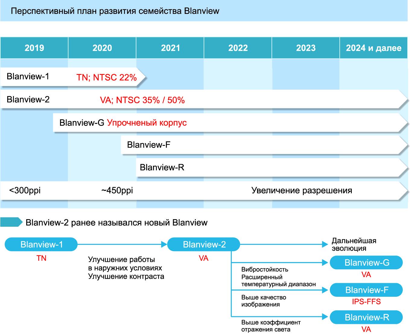 Перспективный план развития технологии Blanview