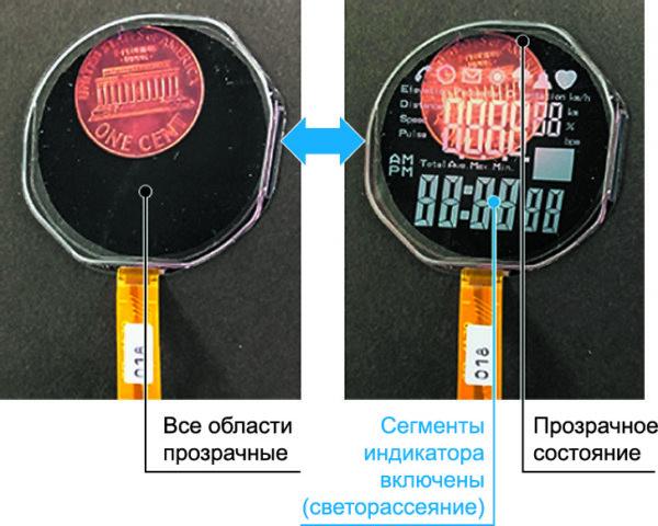 Пример изображения на основе полимерного бистабильного ЖК-материала