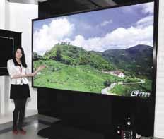 Общий вид 4Kx2K 3D-телевизора сдиагональю 110дюймов китайской компании CSOT