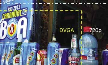 Форматы дисплея WXGA HD+ (изображение целиком), DVGA и 720 р