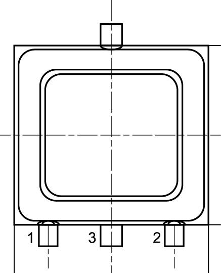 Условное расположение выводов микросхемы в корпусе 4601.3-1