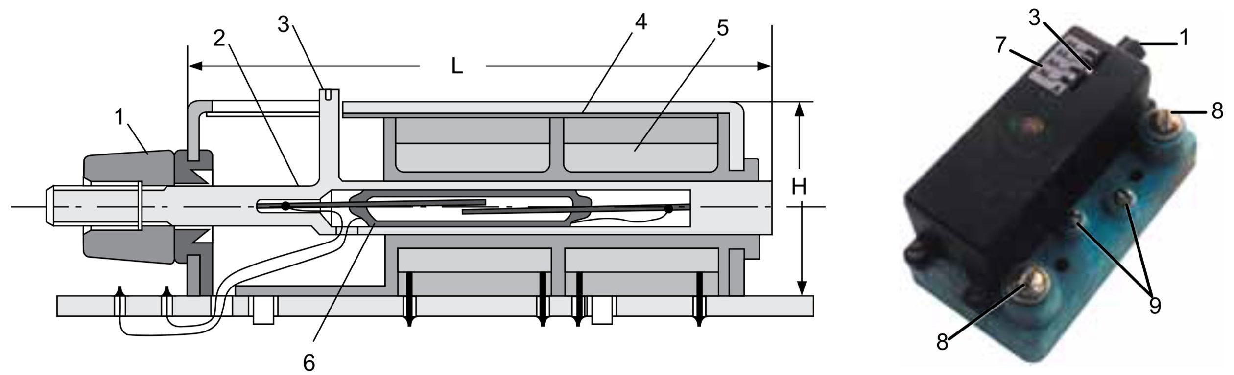 Герконовое реле с регулируемым порогом срабатывания с аксиальным расположением геркона и катушки и с соосным перемещением геркона