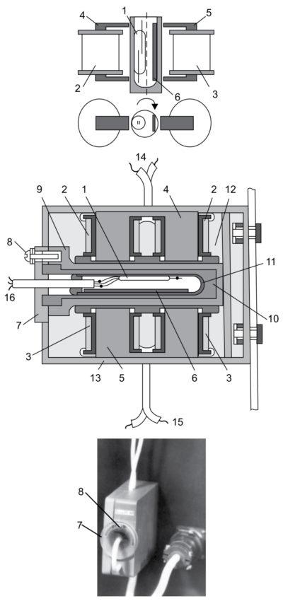 Дифференциальное герконовое реле с регулируемым порогом срабатывания, устройство