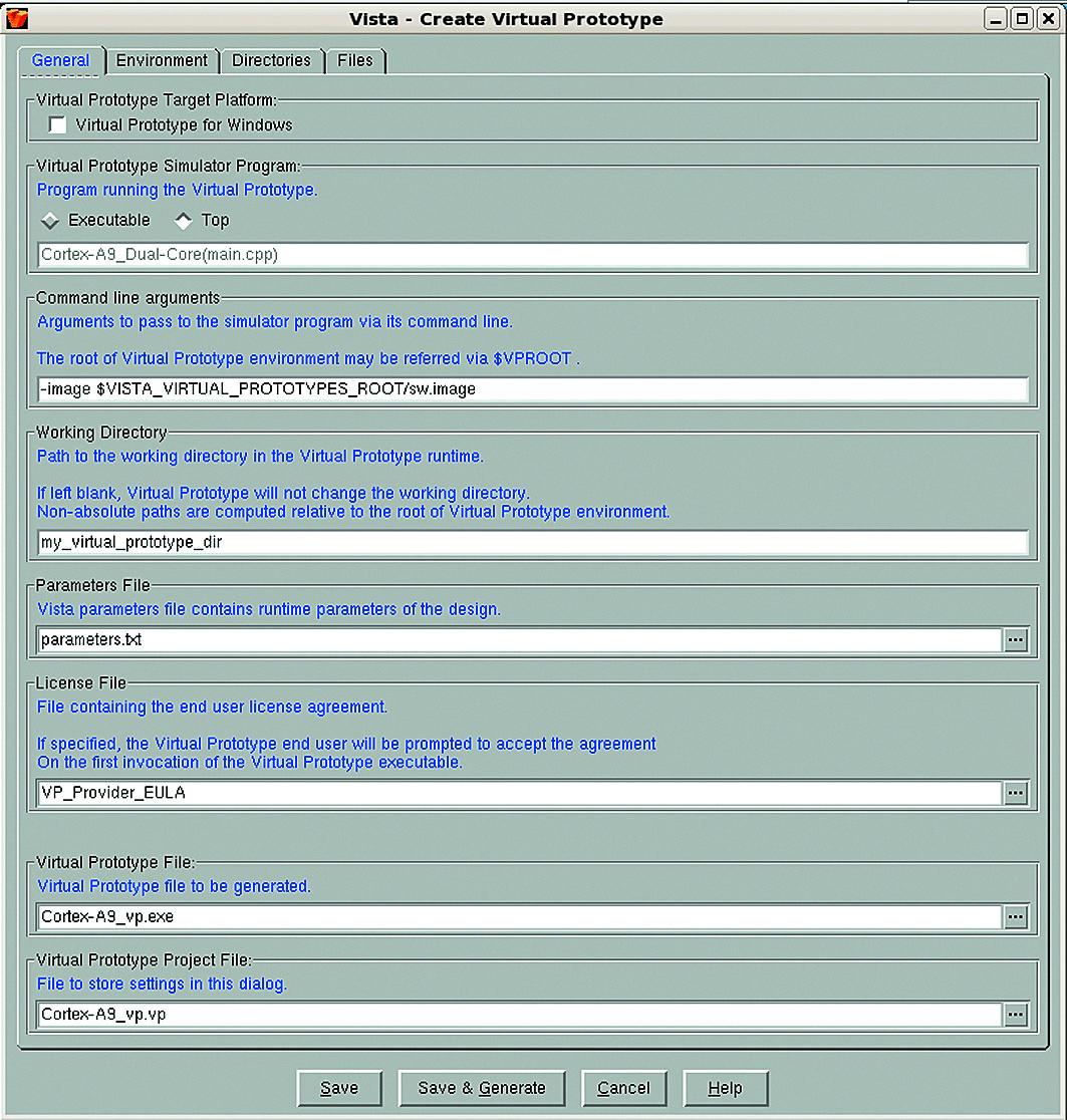 Создание виртуального прототипа с помощью интерфейса Vista GUI