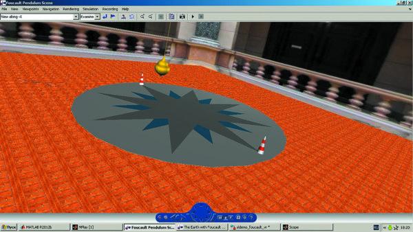 Иллюстрация построения виртуального маятника Фуко
