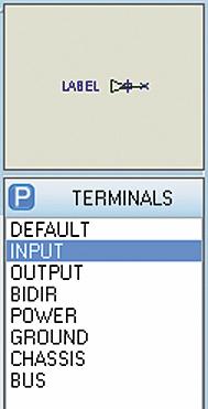 Панель TERMINALS