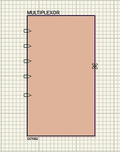 Подключение соединителей к иерархическому блоку мультиплексора на основном листе схемы
