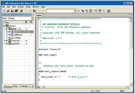 Окно программы IAR «Embedded Workbench 78K»