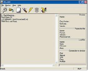 Окно программы, используемой для загрузки Flash-памяти — «PG-LPC»